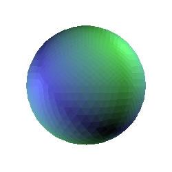 Image_3D paketi kullanılarak oluşturulmuş 3 boyutlu küre