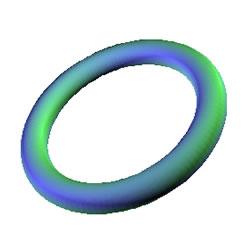 Image_3D paketi kullanılarak oluşturulmuş 3 boyutlu simit şekli
