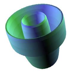Image_3D paketindeki eşlem nesnesi kullanılarak geliştirilen parametrik işlevden oluşan 3 boyutlu yüzey