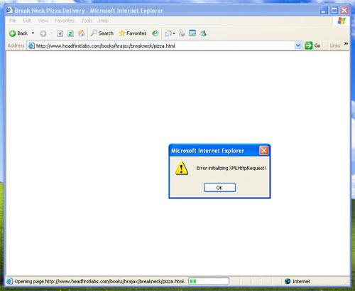 Internet Explorer hata bildirimi