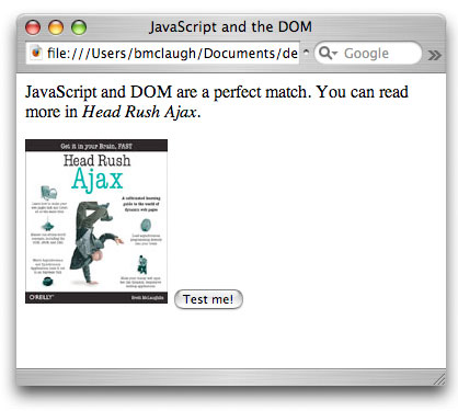 JavaScript çalıştırmak üzere bir düğmesi olan basit bir HTML sayfası